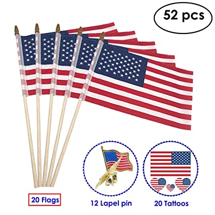 30d1695c5e7 Amazon.com   USA Stick Flag for Veteran Party