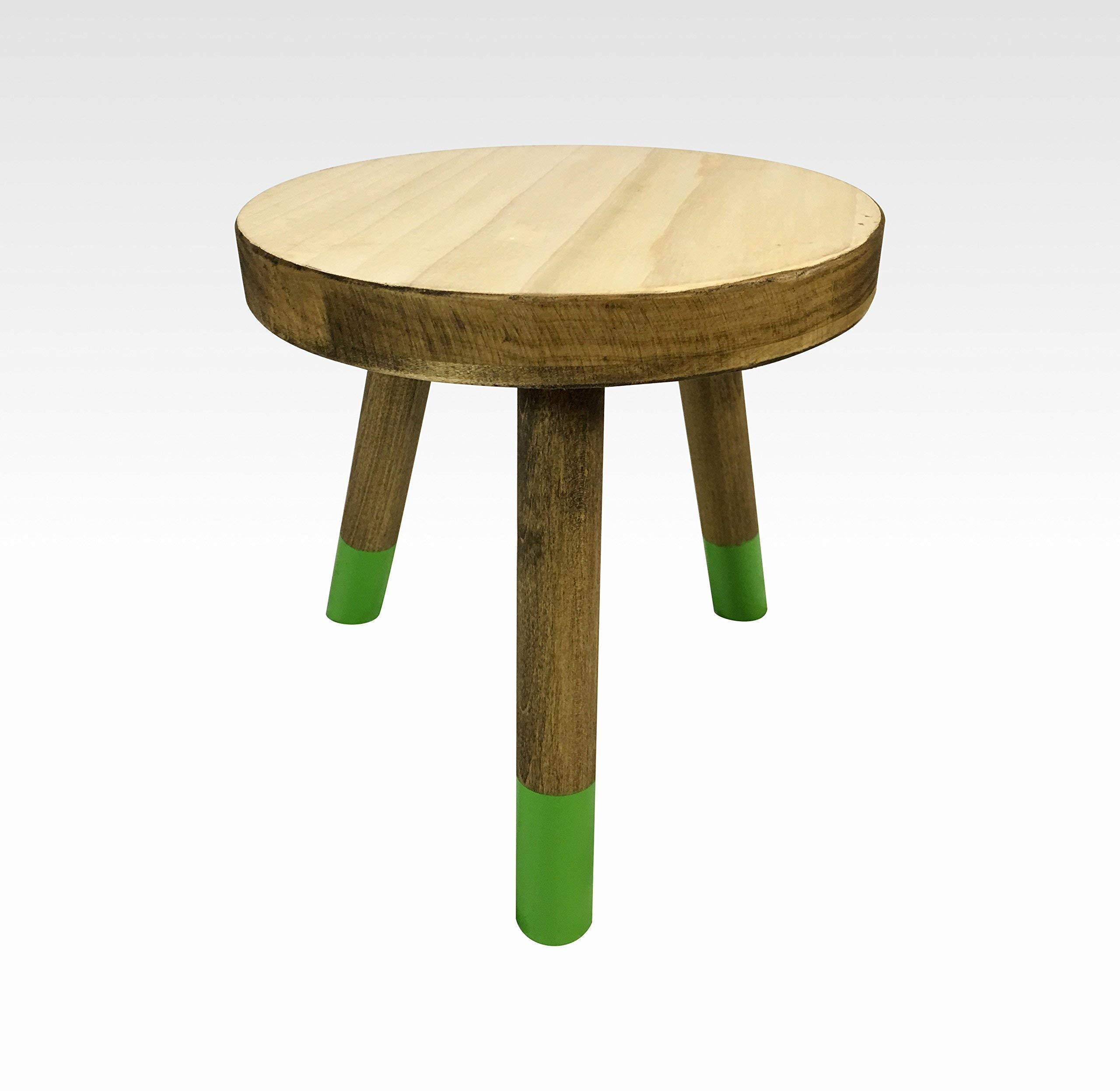 Modern Plant Stand Three Leg Stool by CW Furniture Wood Indoor Flower Pot Base Display Holder Solid Wooden Kids Chair Table Simple Minimalist Small by Candlewood Furniture