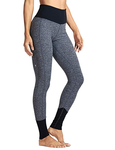 CRZ YOGA Mujer Pantalones Deportivos Casuales Yoga Alta Cintura Estribos Leggings-73cm