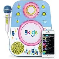 Singing Machine SMK250BG Bluetooth Sing Along Kids Karaoke Machine With LED lights and Microphone, Blue/Green
