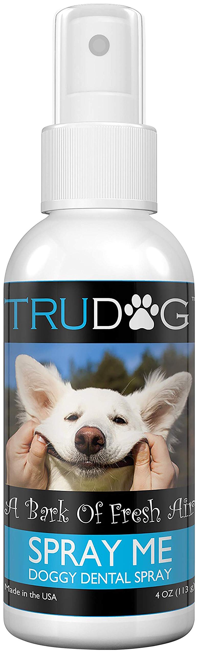 Dog Breath Freshener - Spray Me: Doggy Dental Spray (4Oz) - All Natural Ingredients That Freshen Breath While Reducing Dental Plaque And Tartar Build-Up Without Brushing - Veterinarian Approved by TruDog