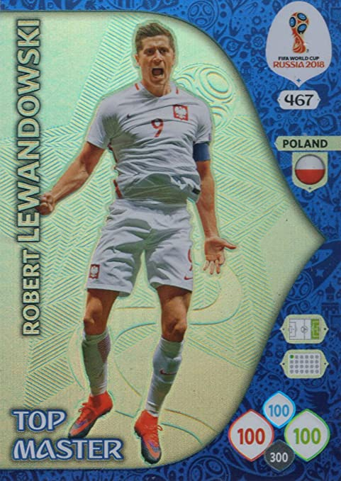 Adrenalyn XL FIFA World Cup 2018 Rusia – Robert Lewandowski Top Master Trading Card – Polonia # 467: Amazon.es: Deportes y aire libre