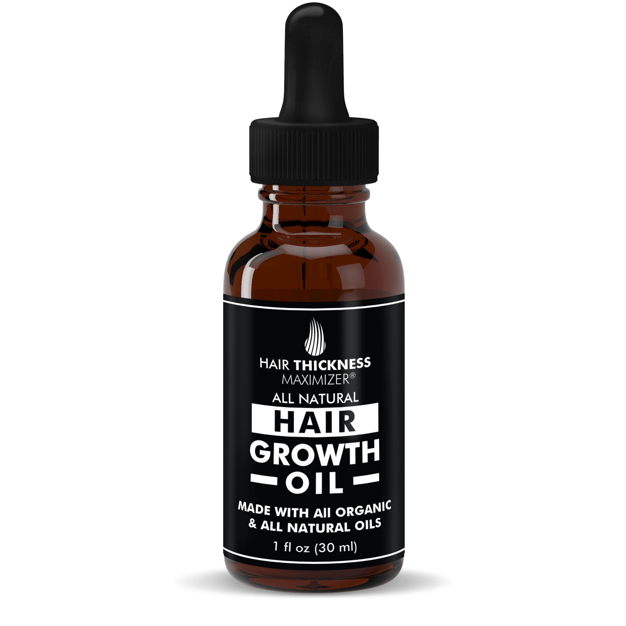 Organic Hair Growth Oils for Hair Thickening by Hair Thickness Maximizer. Best Treatment for Hair Loss, Thinning Hair. Infused with All Organic Black Castor Oil, jojoba, Argan Oil, And More