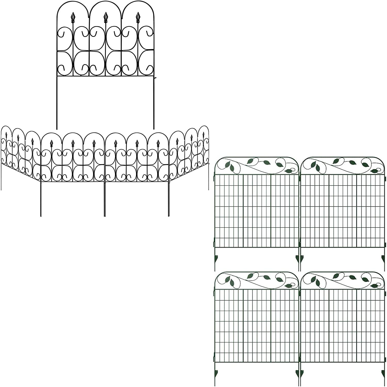 Amagabeli 32in x 10ft Garden Fence Bundle 44in x 12ft Garden Fence
