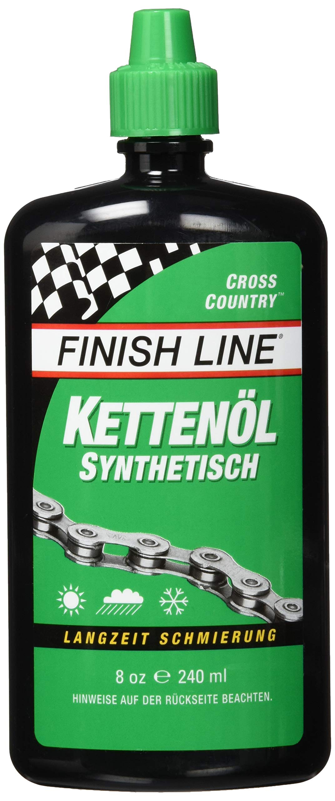 Finish Line WET Bicycle Chain Lube, 8-Ounce Aerosol Spray