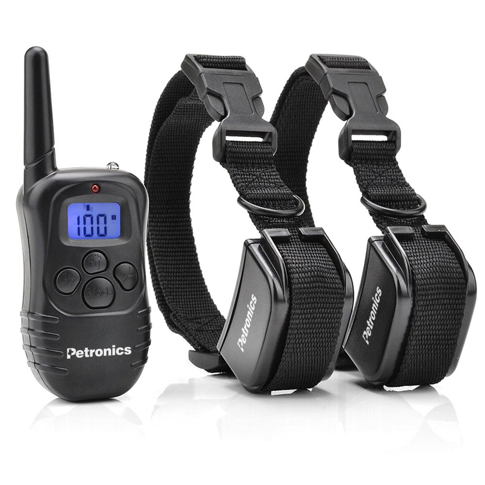 Petronics 330 Yards Rechargeable Shock Training Collar with Remote