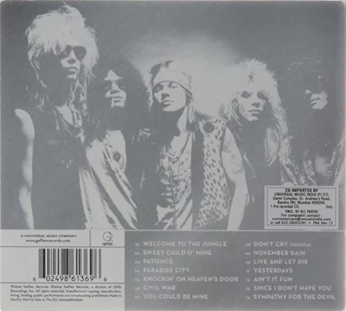 "10 x 8/"" GUNS N/' ROSES ROCK BAND MUSIC GROUP AXL ROSE SLASH METAL PLAQUE SIGN 503"