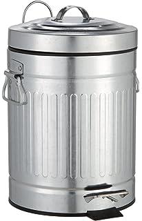 17 x 27 x 17 cm Matt M/ülleimer mit Absenkautomatik Fassungsverm/ögen: 3 l Metall Kosmetikeimer WENKO 18691100 Kosmetik Treteimer New York Easy Close 3 Liter