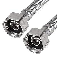1/2 Zoll (IG) x 1/2 Zoll (IG) - Verbindungsschlauch, Anschlussschlauch, Flexschlauch, Verlängerung (80 cm)