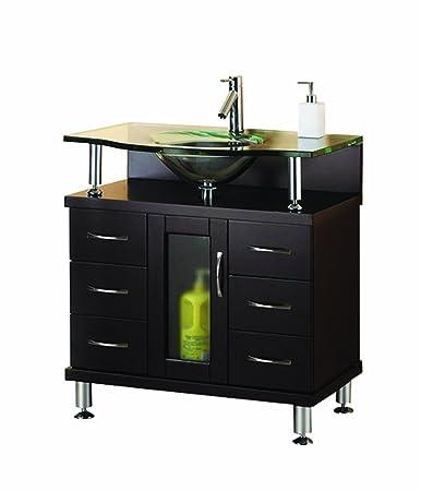 Virtu USA MS-32-G-ES Vincente 32-Inch Single Sink Bathroom