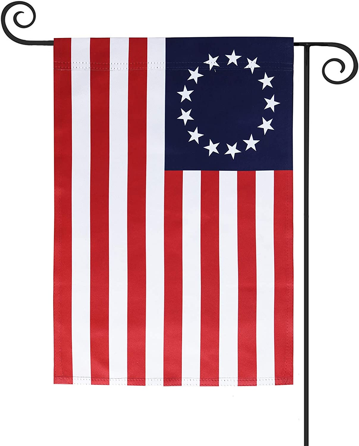 KPP 12x18 inch American Garden Flag, US 13 Star Betsy Ross Garden Flag, Premium Double-Sided Outdoor Yard Lawn Small Decor (12 x 18 inch)