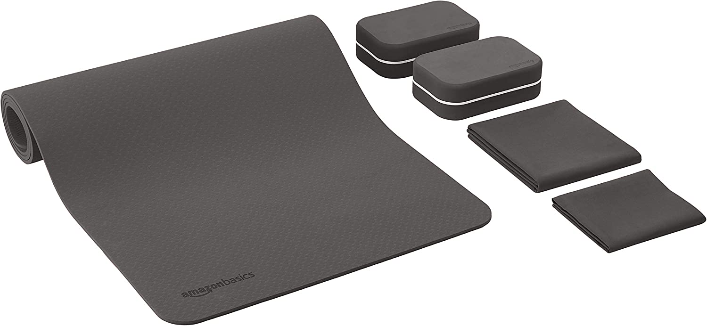 Amazon.com : AmazonBasics 1/4-Inch Thick TPE Yoga Mat 6 ...