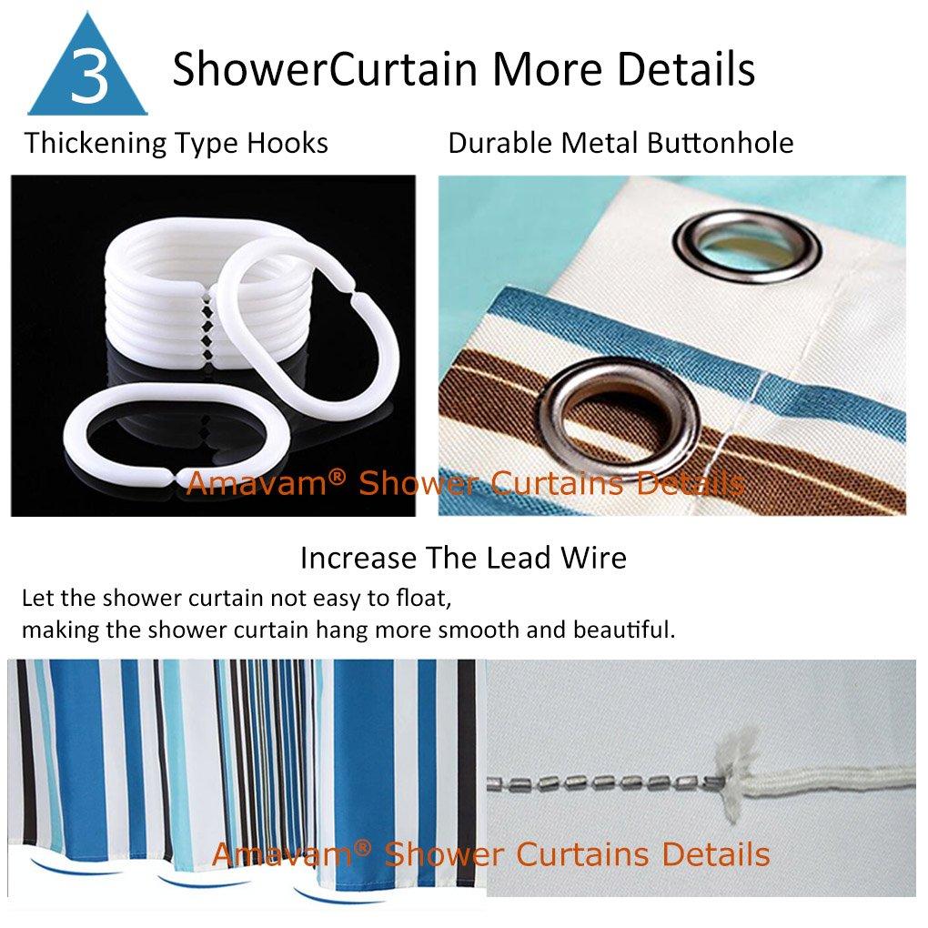 Amavam Bathroom 2-Piece Suit Light Bulb And Solar Panels Shower Curtains And Bath Mats Set, 66'' Wx72 H & 23'' Wx16 H by Amavam (Image #4)