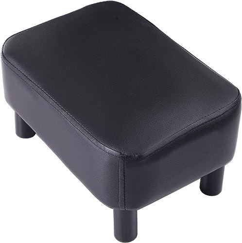 IBUYKE 16.54″ Small Footstool PU Leather Ottoman Footrest Modern Home Living Room Bedroom Rectangular Stool