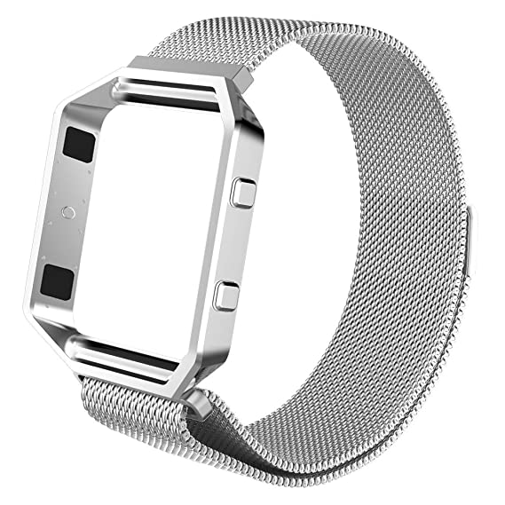 Edelstahl Blaze Armband Fintie Ersatzarmband15 Gehäuse 26cmMetallrahmen BlazeMilanese Rahmen Für Fitbit Verstellbares Mit 9YWDH2IE