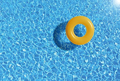 OFILA Swimming Pool Backdrop 8x65ft Ring Photos Summer Kids Party Background Baby 1st