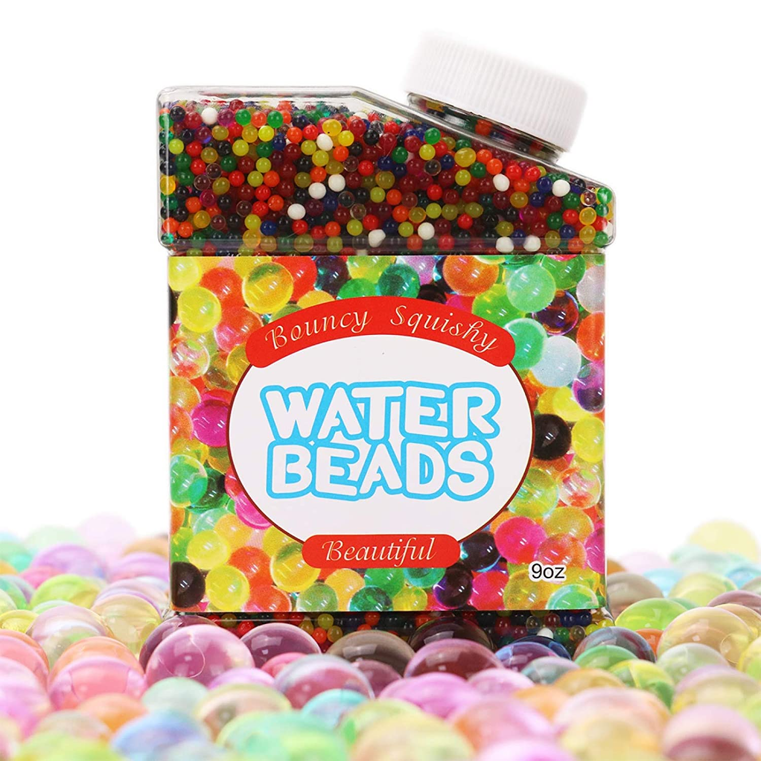 DR.DUDU Water Bead Rainbow Mix Water Gel Beads for Kids Pool Plants Vases Wedding Party Decoration 9 oz
