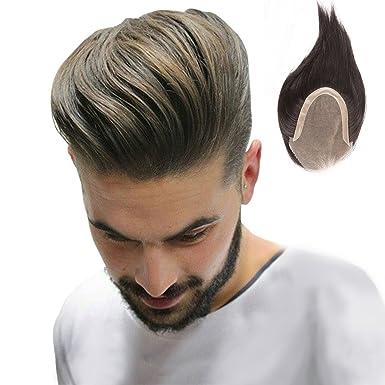 Homelex Haut Manner Haar Toupet Menschliches Haar Stucke Echtes Haar