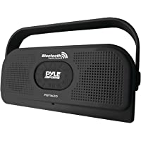 PYLE PBTW20BK Surf Sound 2-In-1 Waterproof Wireless Bluetooth Stereo Speaker & Microphone for Call Answering, Black
