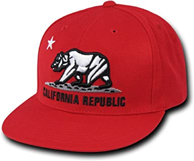 California Republic Bear hat Ship Yacht Captain hat style Snapback Baseball cap