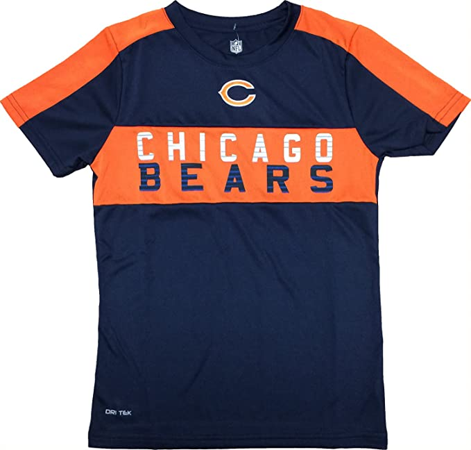 new style a56c3 2eb93 Amazon.com: Chicago Bears Youth Navy Primary Logo Word Mark ...