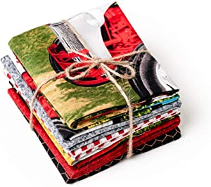Ford Tractor Fabric Fat Quarter Bundle, Tractors and Blenders