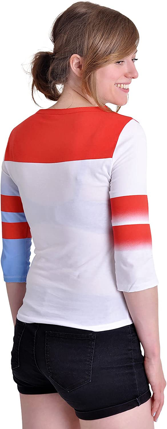 Suicide Squad Harley Quinn Longsleeve Langarm Pullover Rot wei/ß