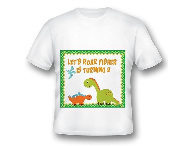 Amazon Custom Birthday Shirt Printed Dinosaur Kids Fabulous Dino First