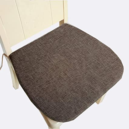 Peacewish Dining Chair Pads Cotton Kitchen Cushion Seating With Tie Coffee Set Of 4