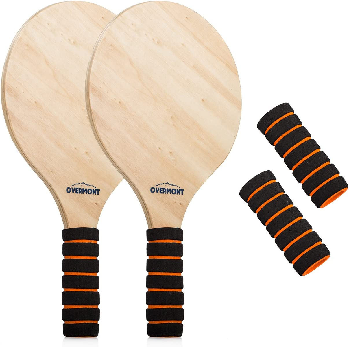 Overmont Juego Kit de Raquetas Palas Badminton de Playa con Volantes Cricket
