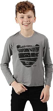 Regatta 'Wendell' Cotton Graphic Print Long Sleeve T-Shirt Camisetas/Polos/Camisetas Unisex niños