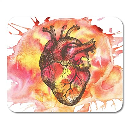 Amazon com : VANKINE Mouse Pads Abstract Human Heart in