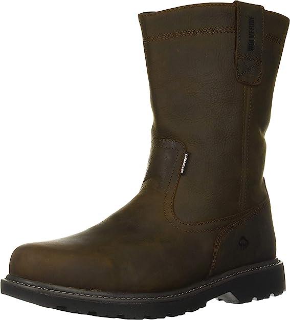 1. Wolverine Men's Floorhand Waterproof Slip-Resistant Work Boot
