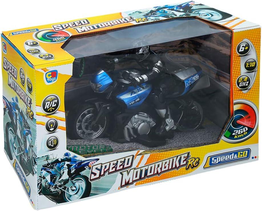 ColorBaby - Moto radiocontrol Speed&Go, Escala 1:10,Azul (85342 ...
