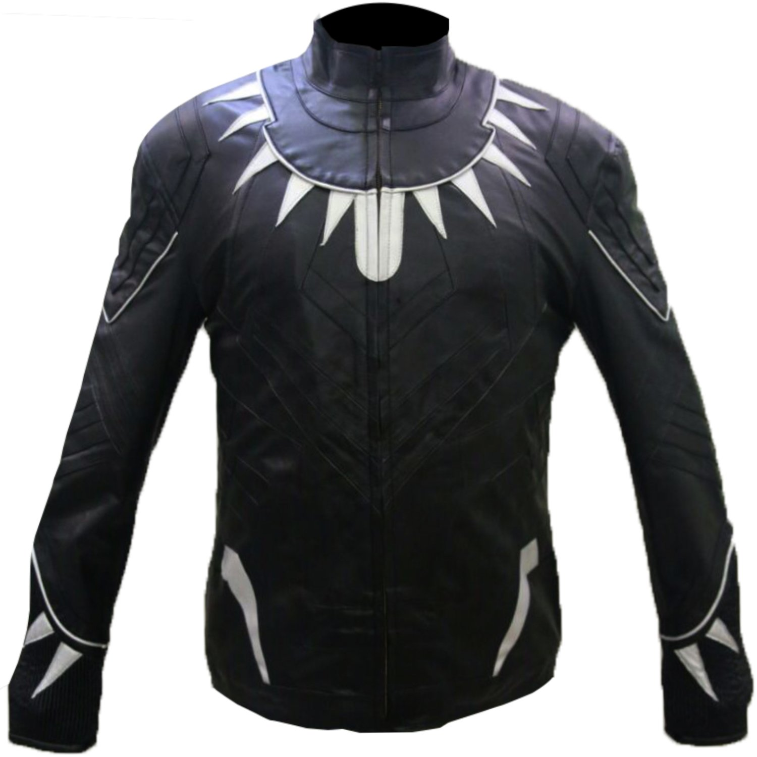 Captain America: Civil War Adult Black Panther Faux Leather Jacket - DeluxeAdultCostumes.com