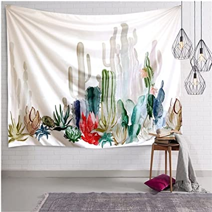 Amazon.com: Hycurey Cactus Plant Printed Tapestry Wall Hangings Boho ...