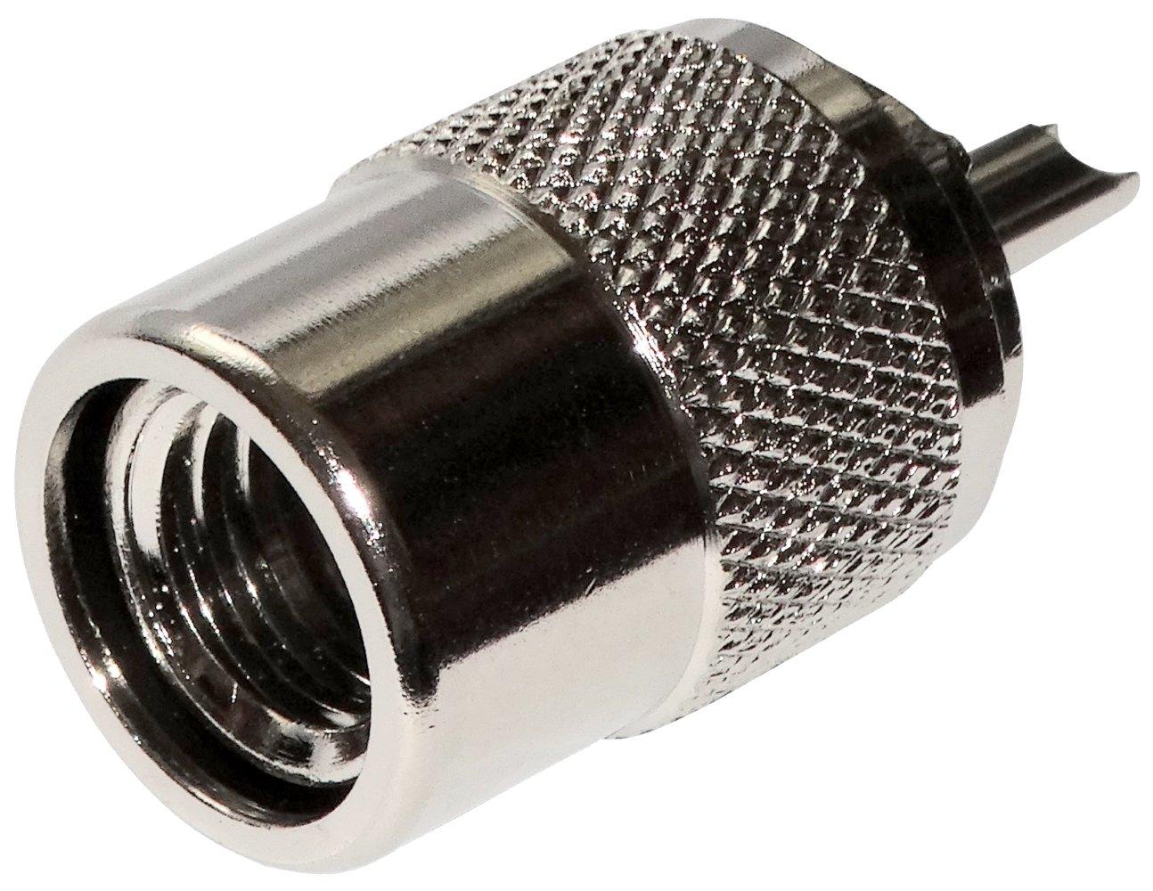 AERZETIX: Conector enchufe UHF PL-259 macho para cable RG213: Amazon.es: Electrónica