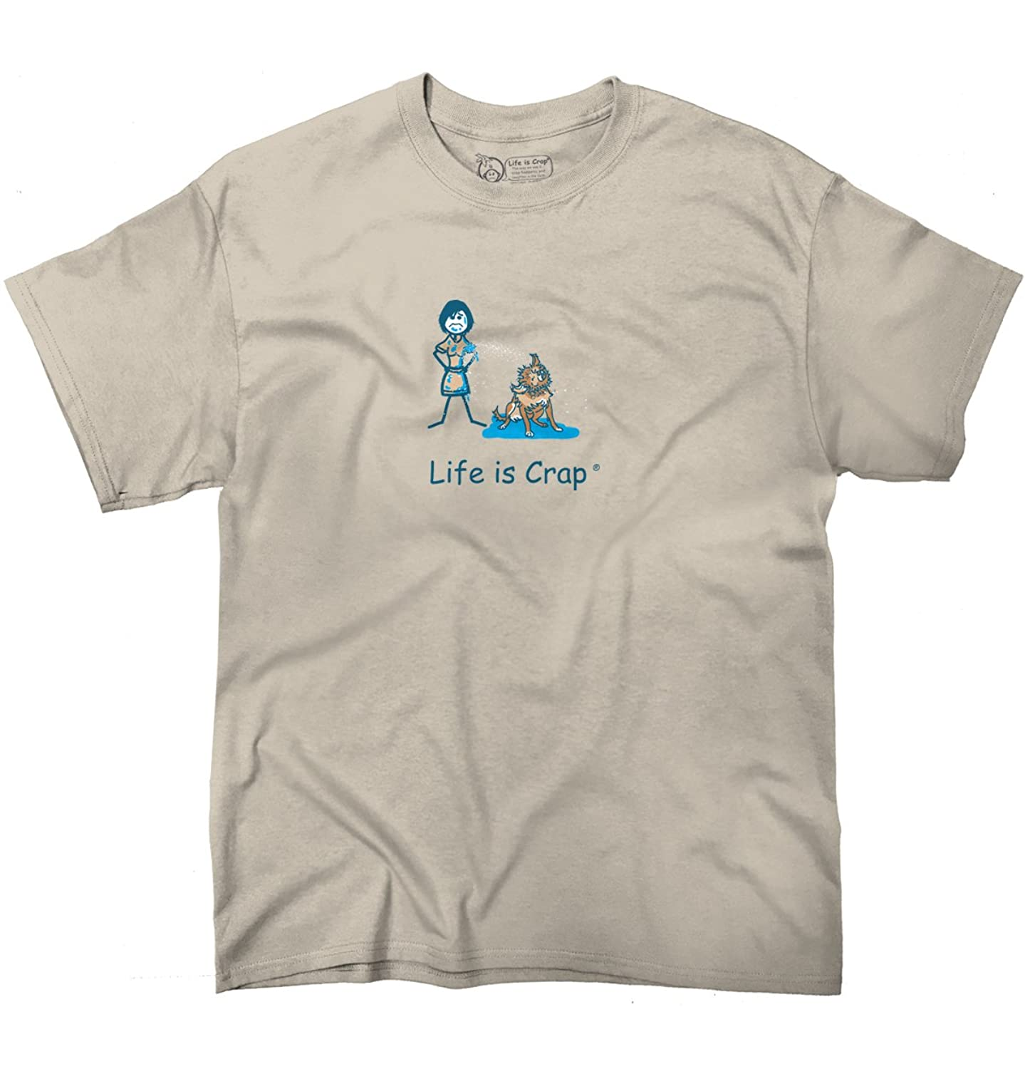 Life Is Crap Wet Dog Good Life Funny Shirts Gift Ideas Graphic T-Shirt Tee