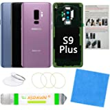 Galaxy S9+ Plus Back Glass Cover Replacement Housing Door with Pre-Installed Camera Lens +Installation Manual +All The Adhesi