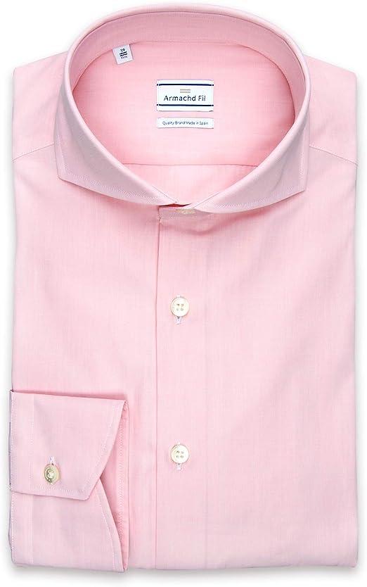 Camisa de Vestir Milan Pink (39): Amazon.es: Ropa y accesorios