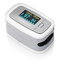 MeasuPro OX100 L'oxymètre de pouls à lecture instantanée, écran Oled pivotant, surveillance d'oxygène et du rythme cardiaque, botier et cordon inclus