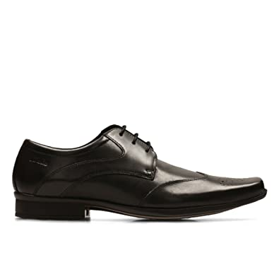 Clarks Men's Lace-Up Derby Shoes Affix Moscow Black Leather
