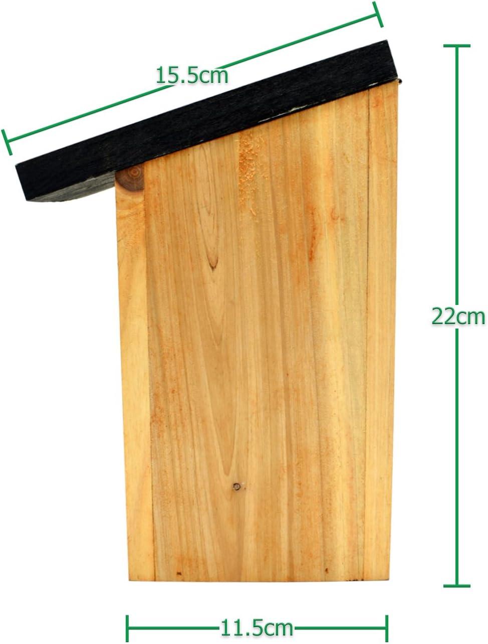 4 x Handy Home and Garden Druckbehandelter H/ölzerner Wildvogelhaus-Standardholz-Nistkasten Nat/ürliche Vogelnistk/ästen