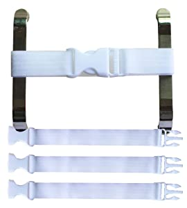 Baby Cabinet Safety Locks,Handles Child Safety Locks Simple Installation Home Safety Strap Locks Fit Closed Handle Cabinets,Oven, Double Open The Door Refrigerator, Kitchen Door (3 Pack, White)
