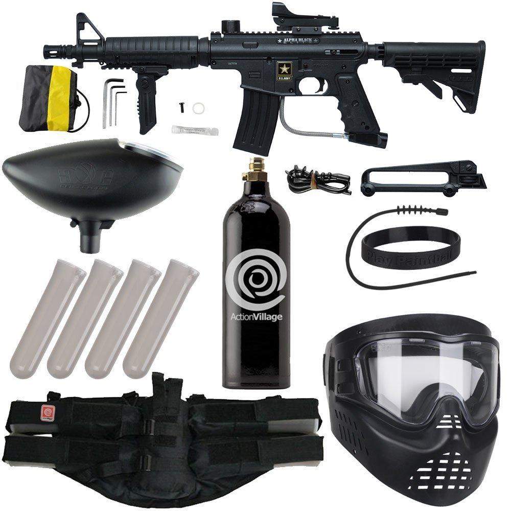 Action Village Tippmann US Army Alpha Elite Foxtrot Paintball Gun Package Kit by Action Village