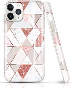LUOLNH iPhone 11 Pro Max Case,iPhone 11 Pro Max Marble Case,Marble Design Shockproof Flexible Soft Silicone Rubber TPU Bumper Cover Skin Case for iPhone 11 Pro Max 6.5 inch 2019 -Pink