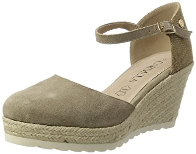 Xti Taupe Suede Ladies Shoes, Sandales Plateforme Femme, (Taupe Taupe), 40 EU