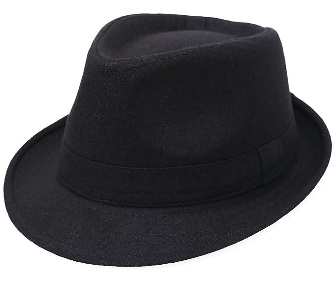 amazon com fedora hats for men unisex manhattan black fedora