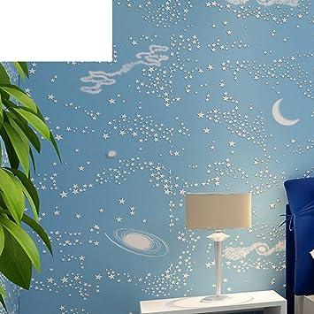 Blauer Himmel Wallpaper Kinderzimmer Tapete Star Tapetejungen Und