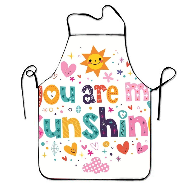 You Are My Sunshine Loveレタリングキッチンエプロン女性と男性用調節可能なネックストラップレストランホームシェフのよだれかけエプロン料理BBQグリル   B07FTK6N1D